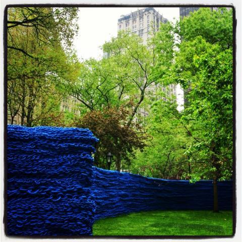 Blue art installation 2