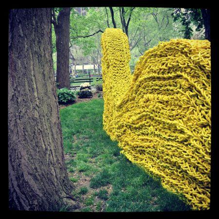 yellow art installation