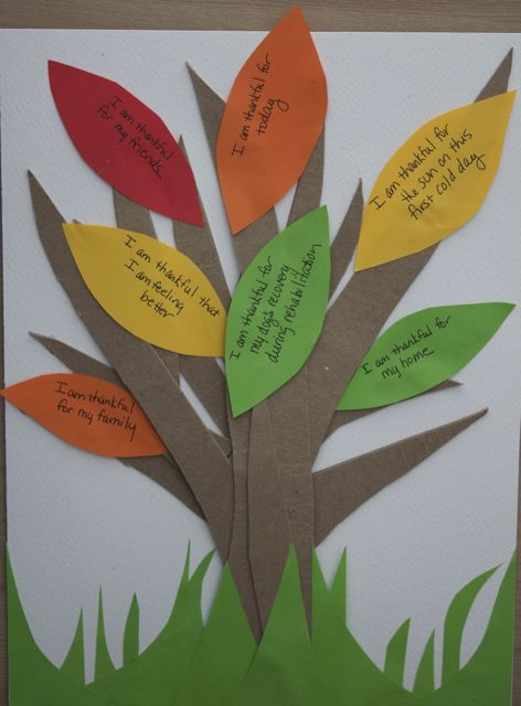Paper tree with notes on leaves
