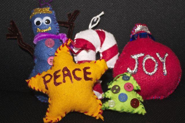 sewn ornaments