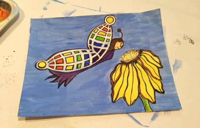 Buttefly and flower paintings