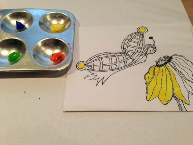 Buttefly and flower painting