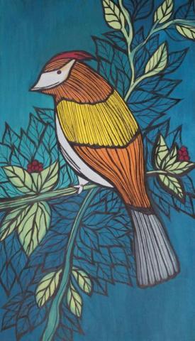 Colorful Bird Drawing