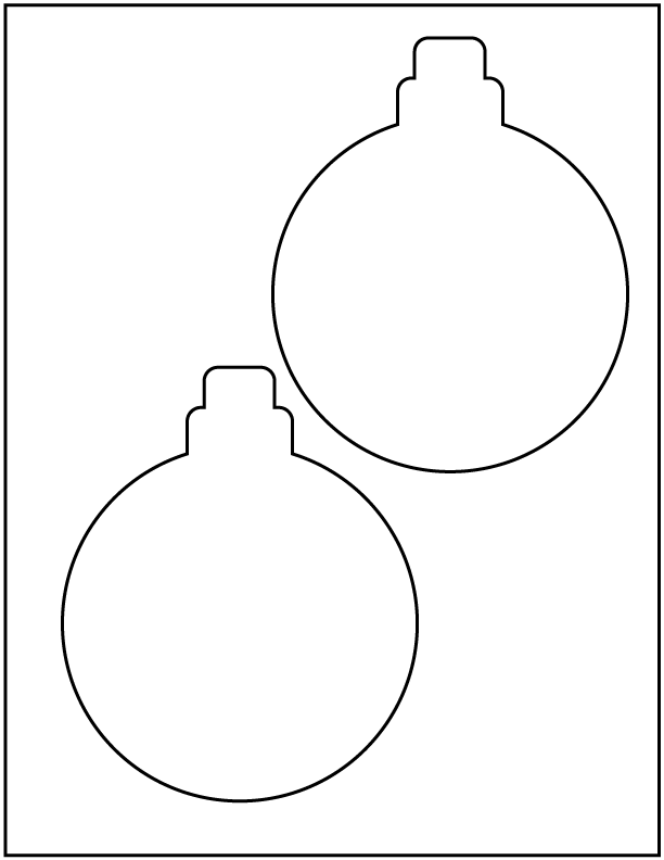 Click on image to download holiday ornament templates.