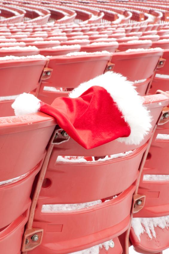 Santa hat on seat