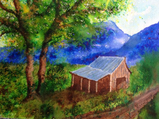 Watercolor art by Jeanne