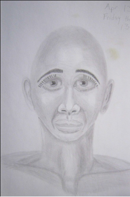 """Figure 8: Friday the 13th Man Graphite, 9""""x12"""""""