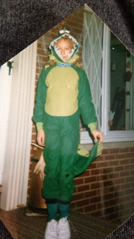 Kelley Dressed as a Dinasour