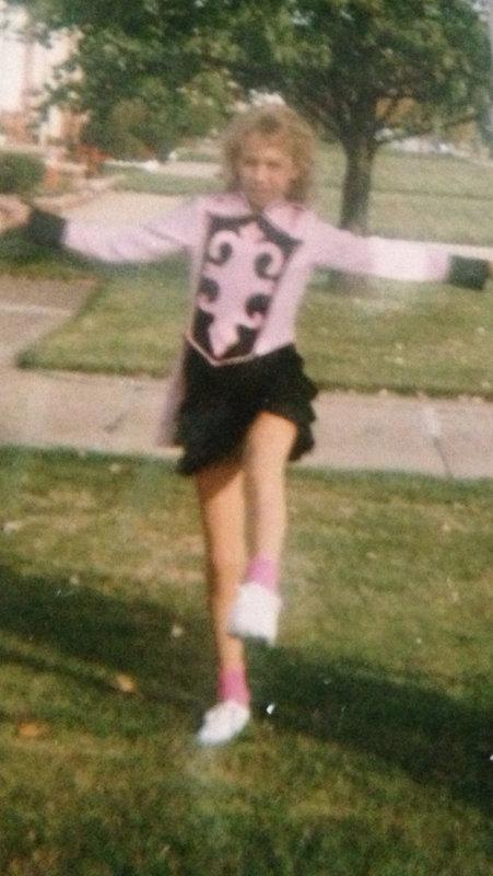 Kelley Dressed as a Drum Major