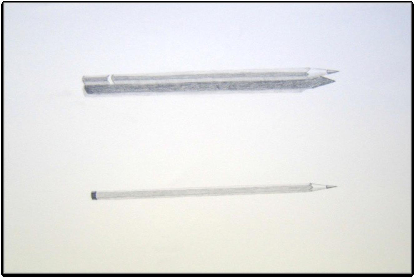 "Figure 11: Pencils, Graphite 9""x12"""