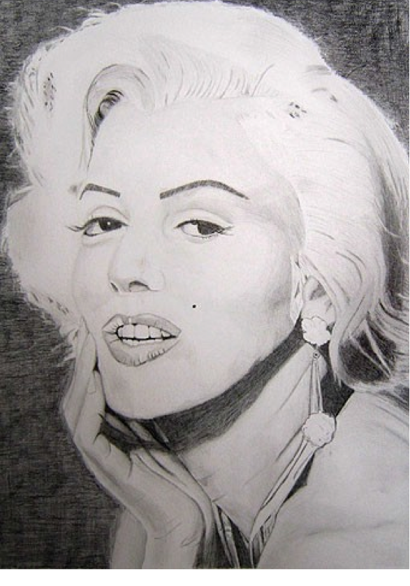 "Figure 19: Marylin Monroe, Graphite 16"" x 20"""