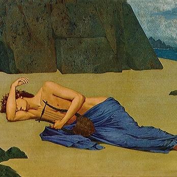 Alexandre Séon,  Orpheus' Lamentation , 1896