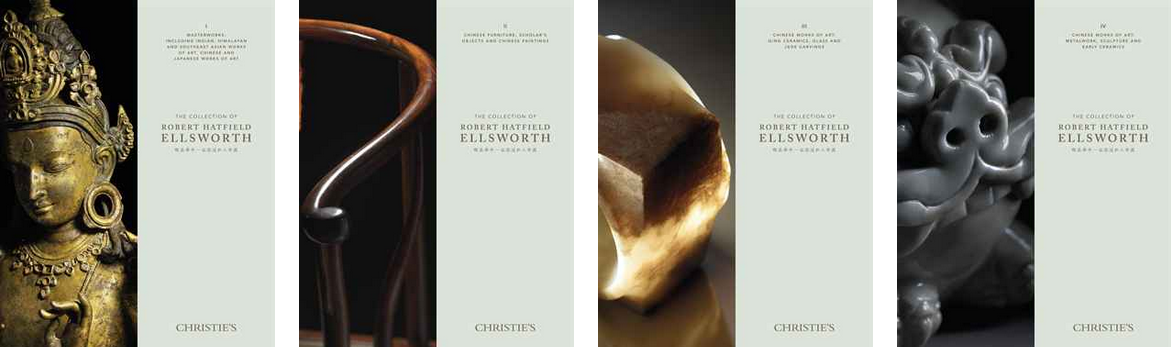 Auction catalogs from four of the Ellsworth auctions via Christie's