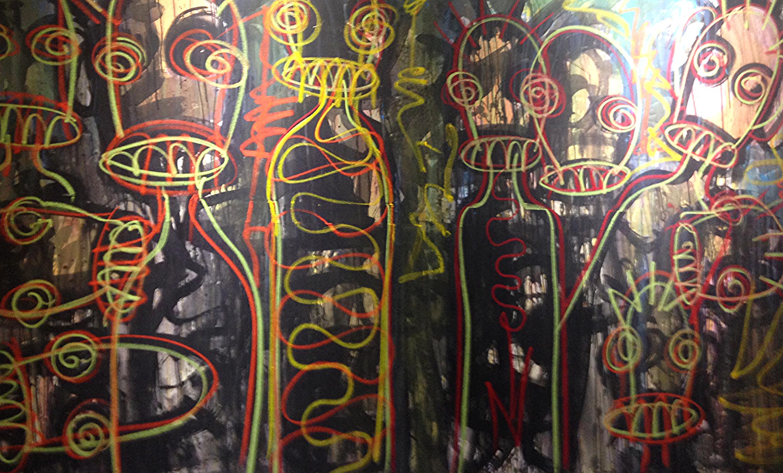 1:54 Contemporary African Art  Aboudia Nouchi City Series Galerie Cecile Fakhoury, Côte d'Ivoire