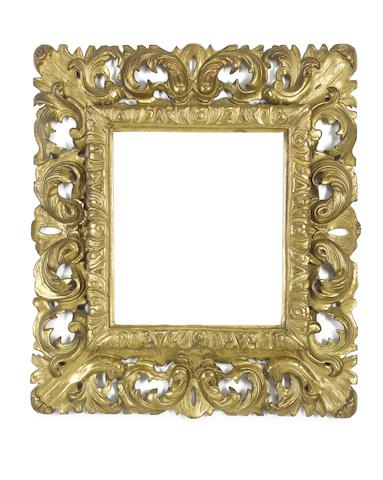 A Florentine 18th Century carved and gilded frame