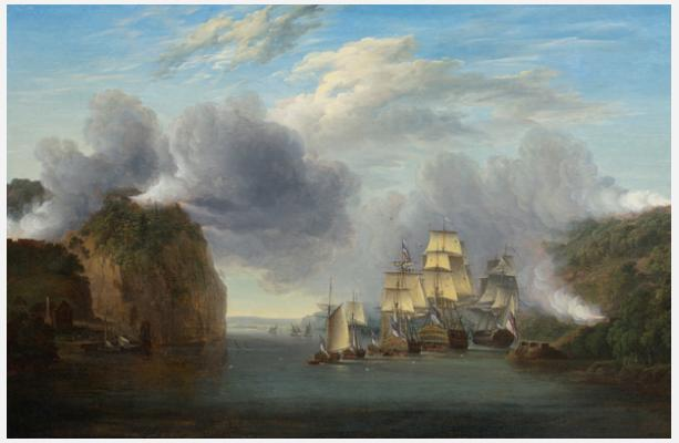William Joy (1803–1867),  Forcing the Hudson River Passage  , ca. 1835. Oil on canvas. New-York Historical Society, Gift of the Travelers Insurance Company.