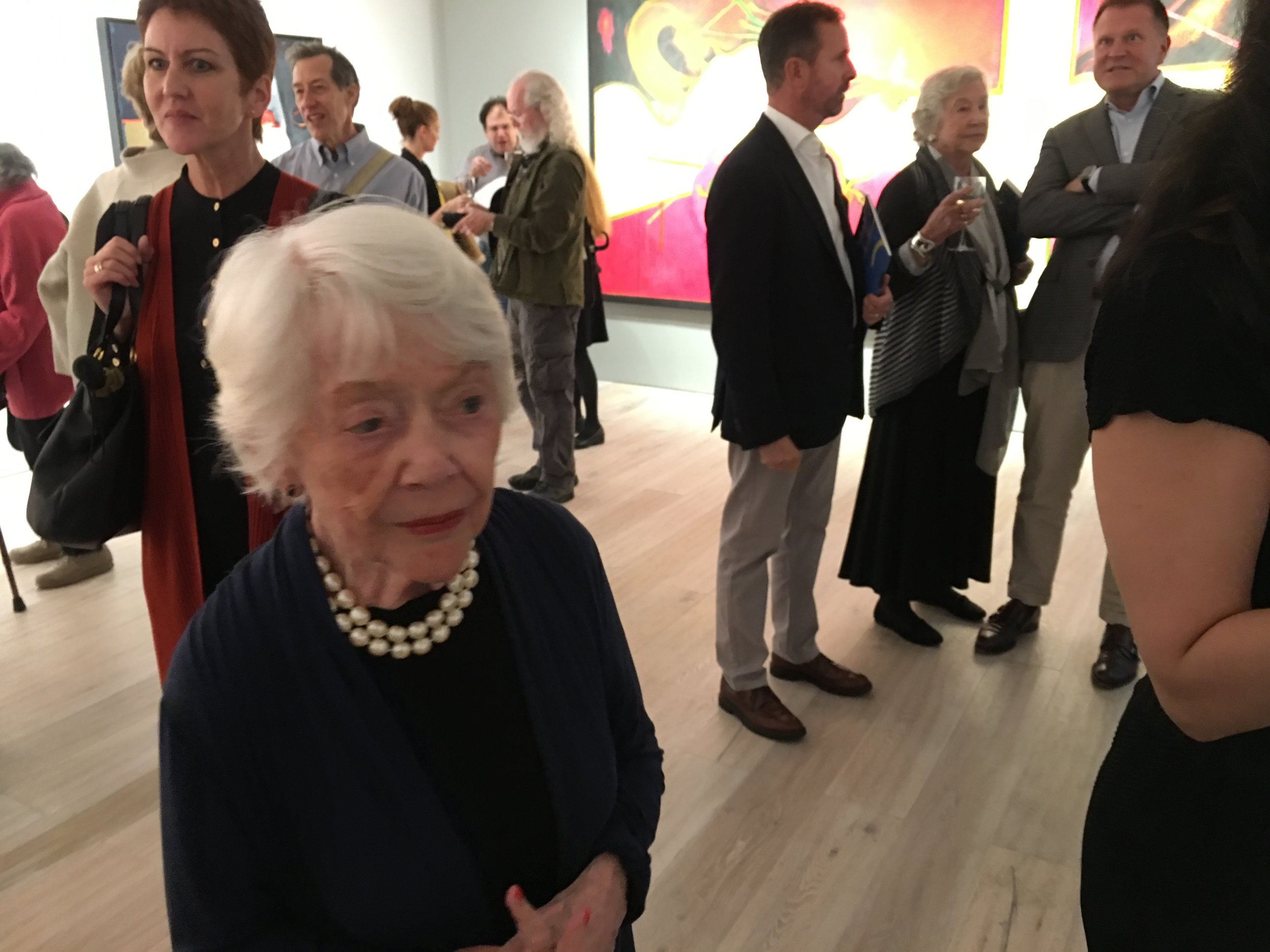 The first picture, Sally Scharf. The tall man is Christopher Rothko and next to him, back turned, is Hollis Taggart, the gallerist.