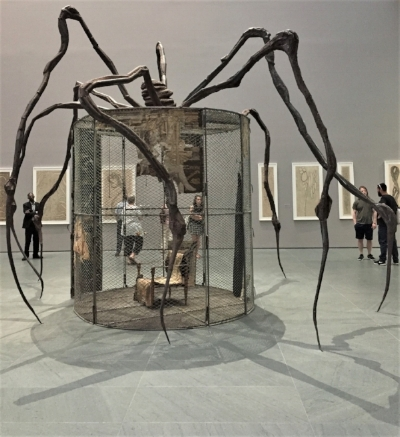 For Louise Bourgeois, whose mother was a tapestry restorer,, sewing and spinning a web were intertwined