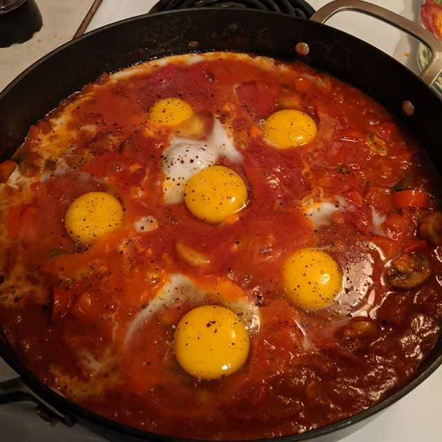 First attempt at shakshuka