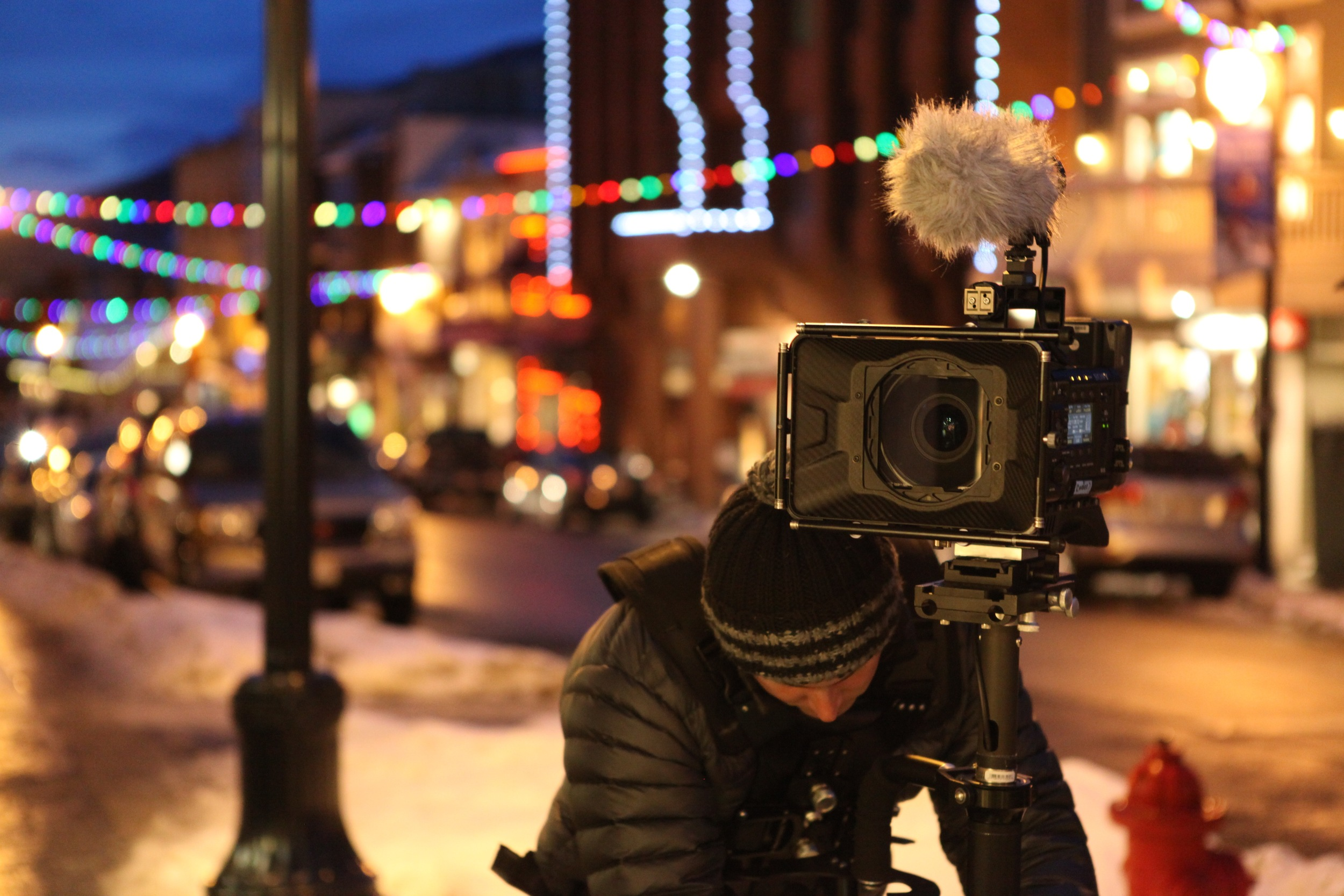 Filming on Park City's Main St, home of Sundance Film Festival