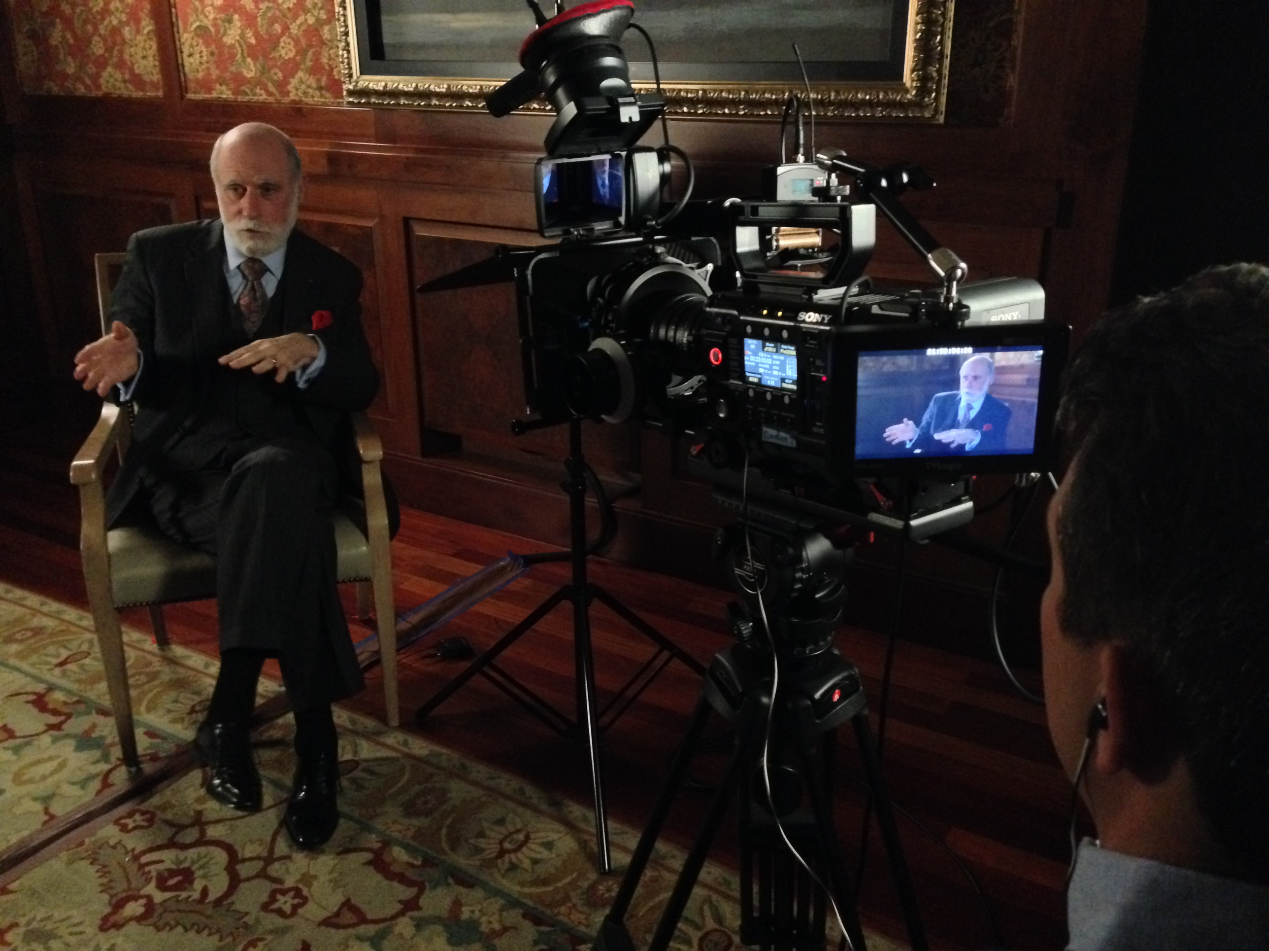 Internet Pioneer Vinton G. Cerf talks about the importance of an undiagnosed database to improve the future of medicine