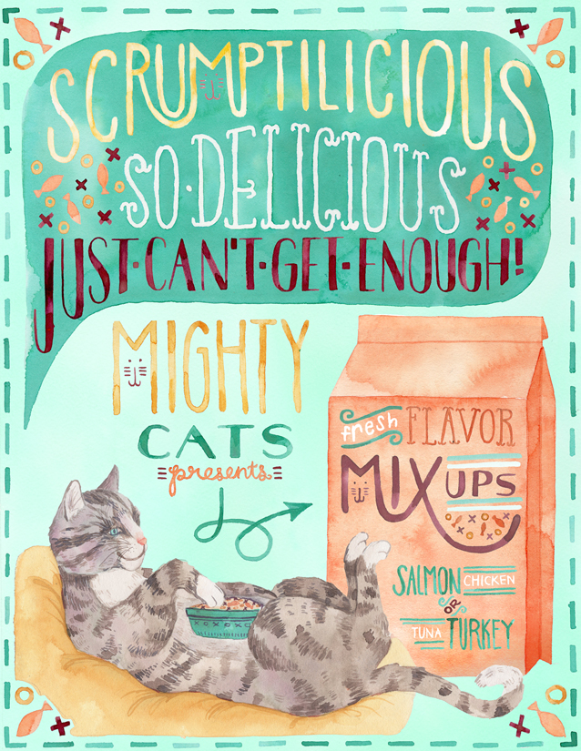 Becca Cahan Might Cats Cat Food Ad.jpg