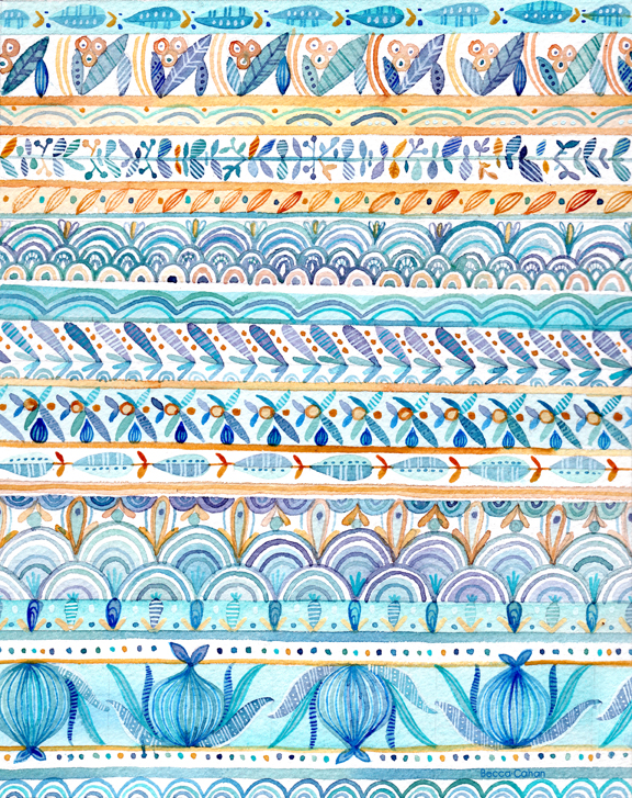 """""""Wander"""" pattern by becca cahan"""