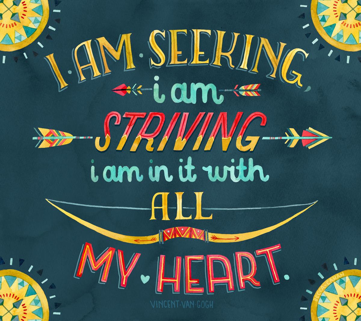 """Seeking & Striving"" by becca cahan"