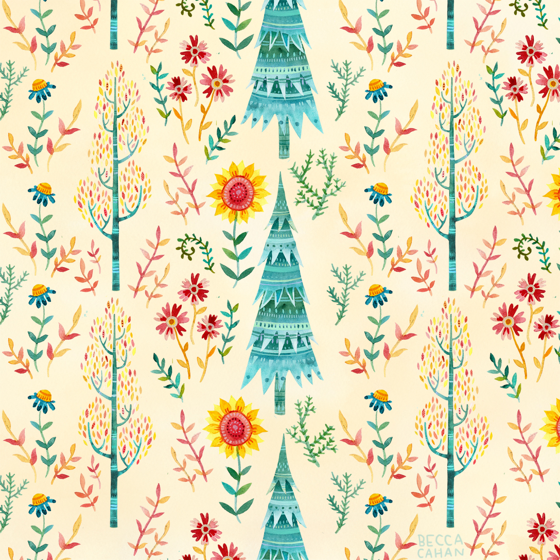 """""""Stroll"""" pattern by becca cahan"""