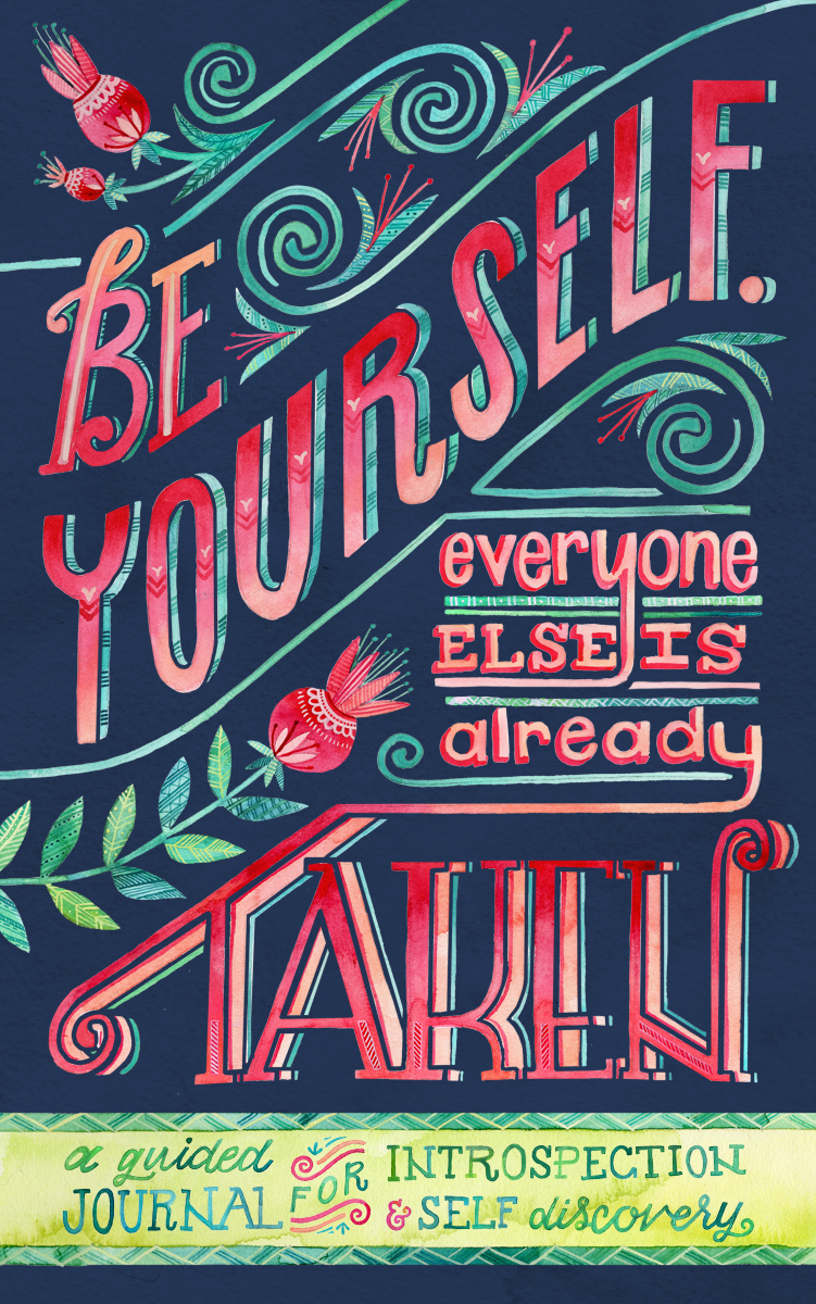 """""""Be Yourself"""" journal cover by Becca Cahan"""