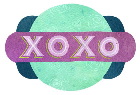 """""""I love you to the moon"""" corresponding sticker by becca cahan"""
