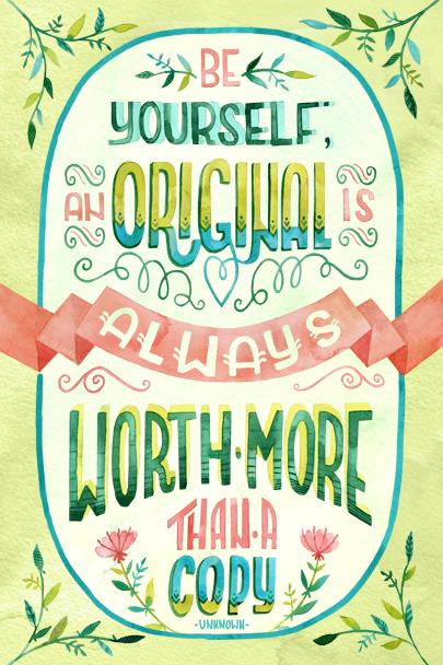 """Be an Original"" by becca cahan"