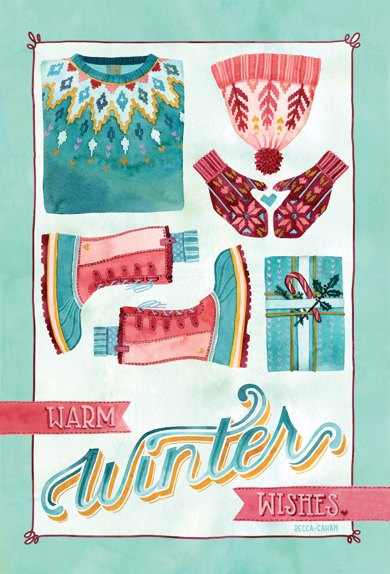 """""""Warm Winter Wishes"""" by becca cahan"""