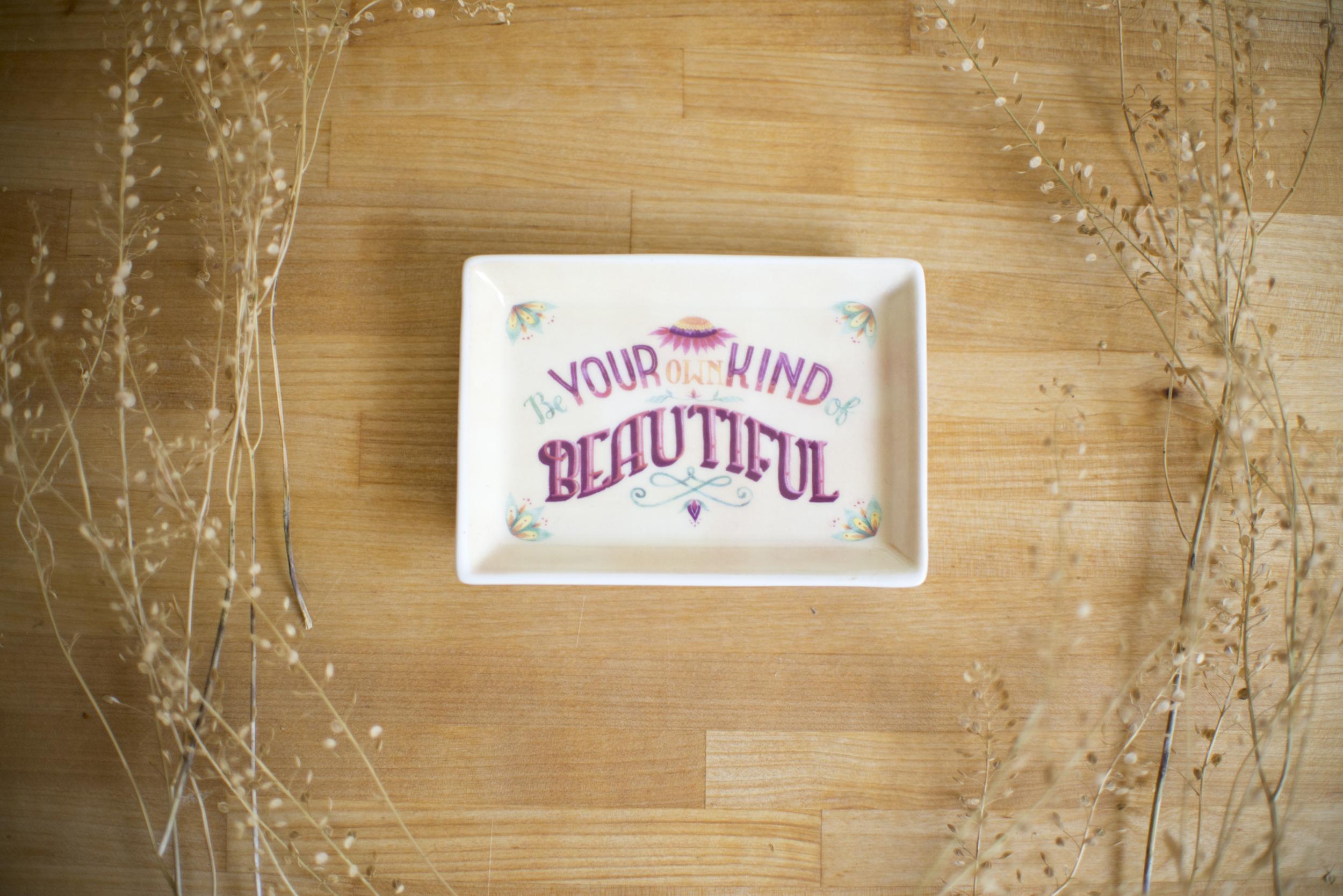 """Beautiful"" Studio Oh! trinket dish by Becca Cahan"