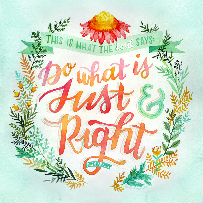 """""""Just & Right"""" by Becca Cahan"""