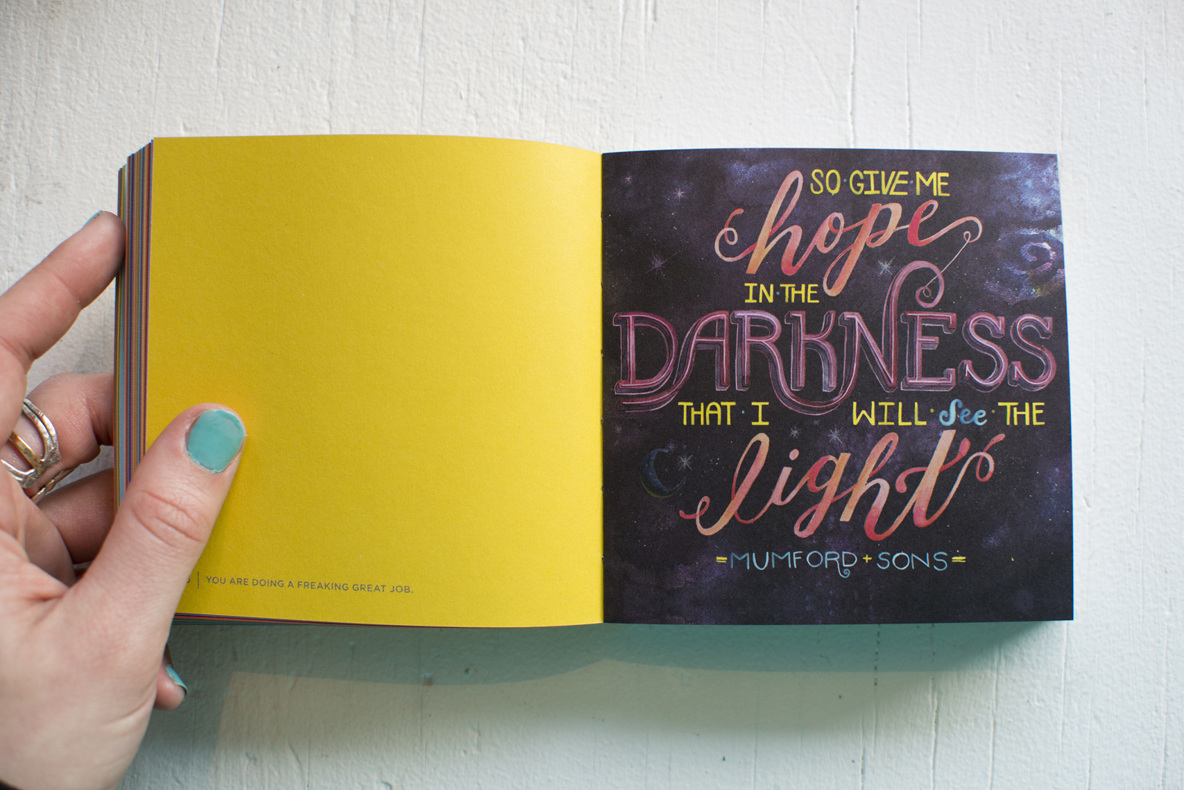 """Photo + Illustration by Becca Cahan // Workman Publishing """"You are Doing a Freaking Great Job"""" book"""