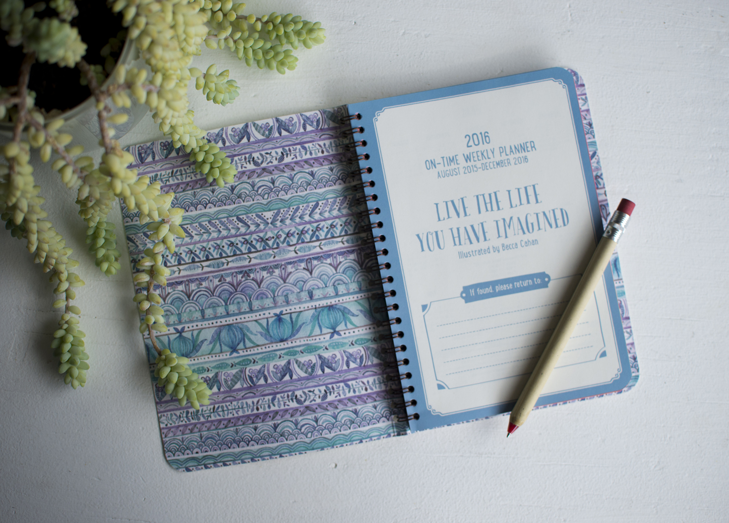 """Becca Cahan for Studio Oh! // """"Direction of Your Dreams"""" On-Time Weekly Planner 2015-2016 Planner"""
