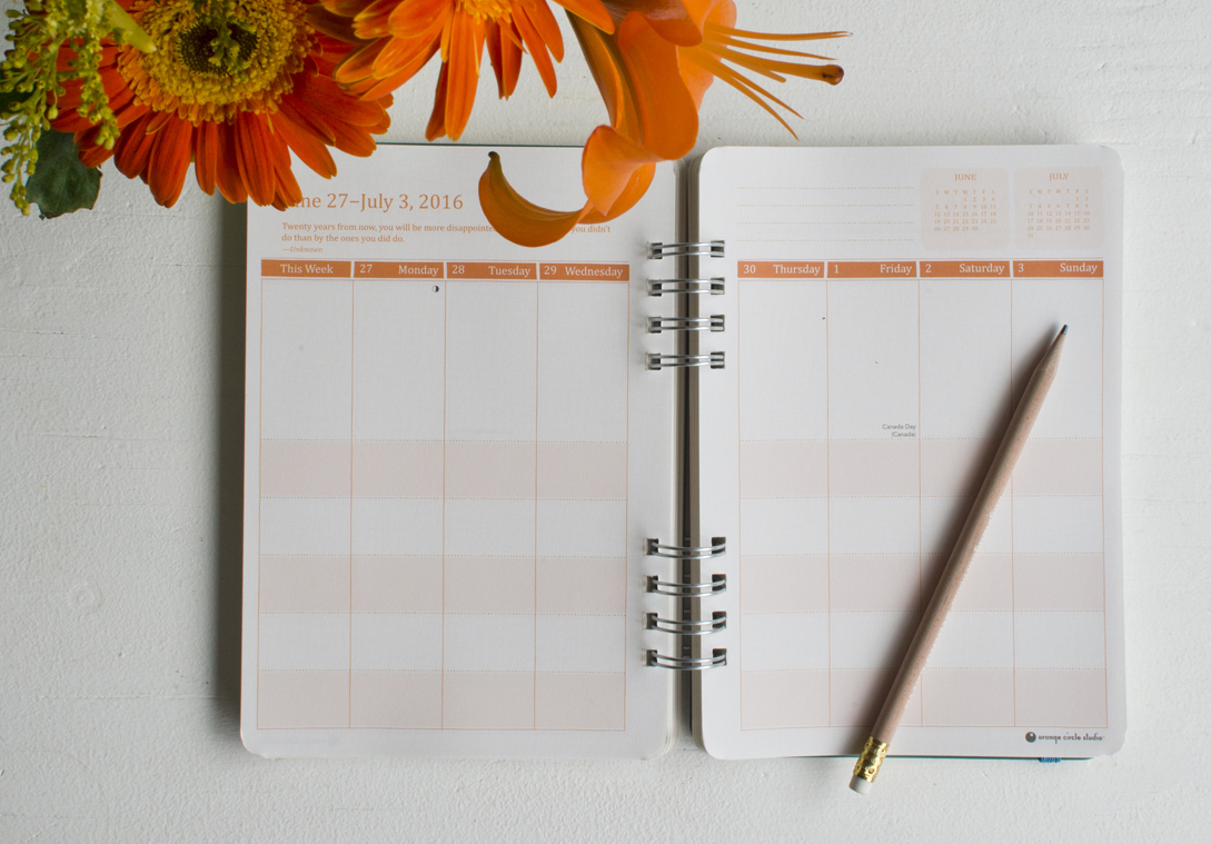 """Becca Cahan for Studio Oh! // """"Live Love Laugh"""" Weekly Planner 2015-2016 Planner"""