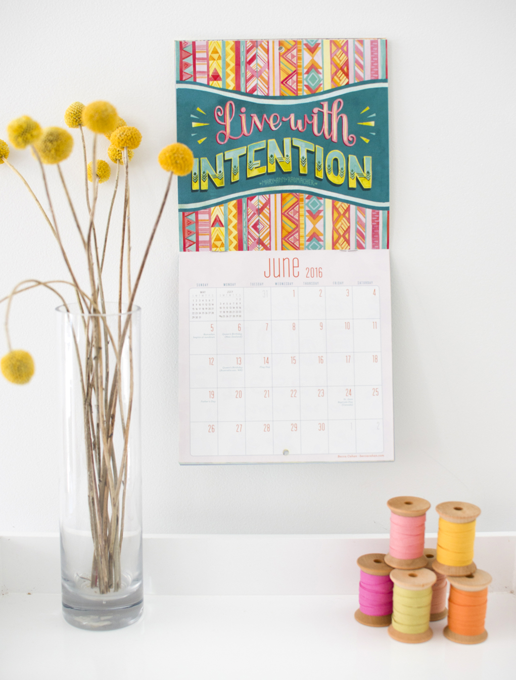 """""""Today is going to be a great day"""" Workman Publishing Mini Calendar- June by Becca Cahan"""