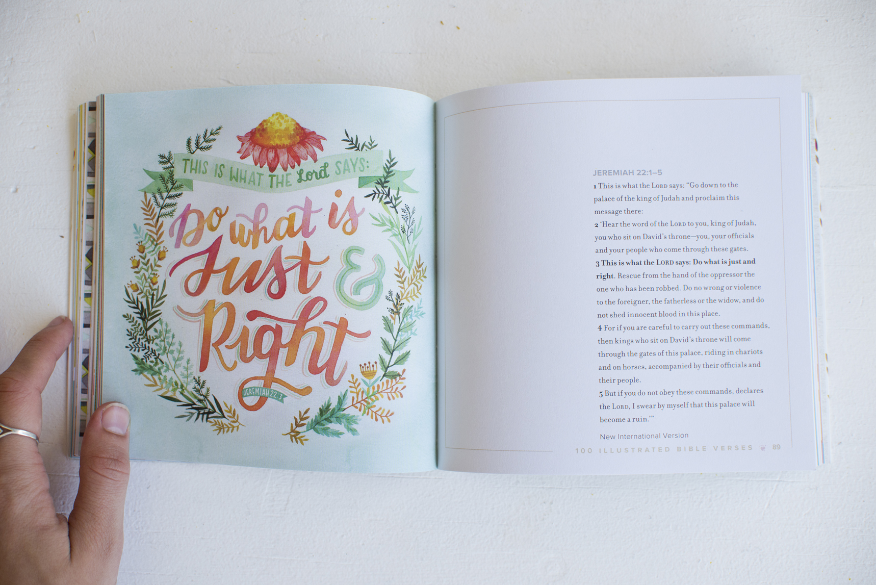"""""""100 Illustrated Bible Verses"""" Workman Publishing Book // Illustrations by Becca Cahan"""