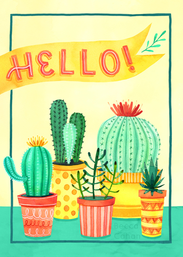 Hello Little Succulents by becca cahan