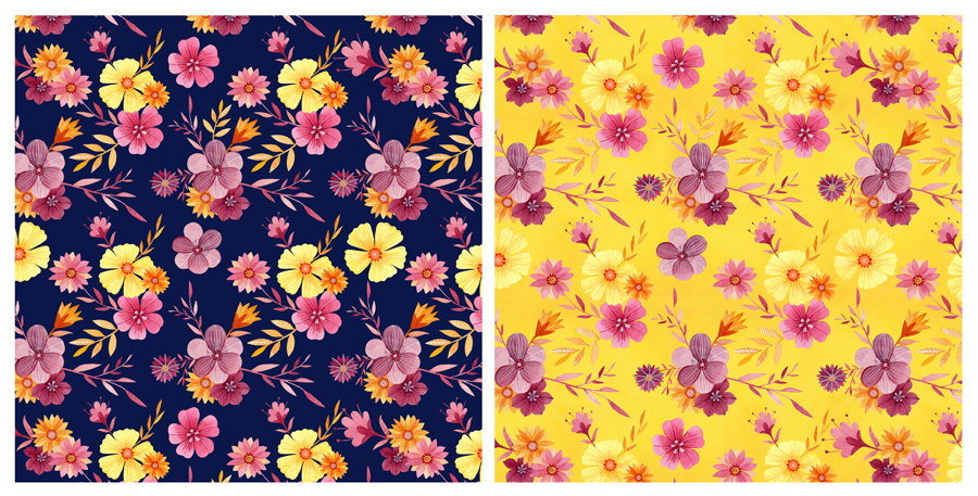 Floral Experimentation Patterns by Becca Cahan