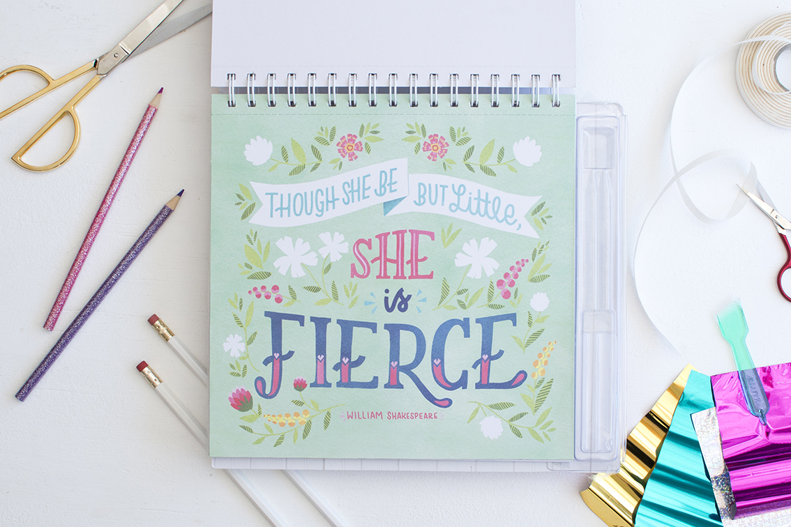 """""""Klutz Kit Create Your Own Quote Art"""" illustration by Becca Cahan"""