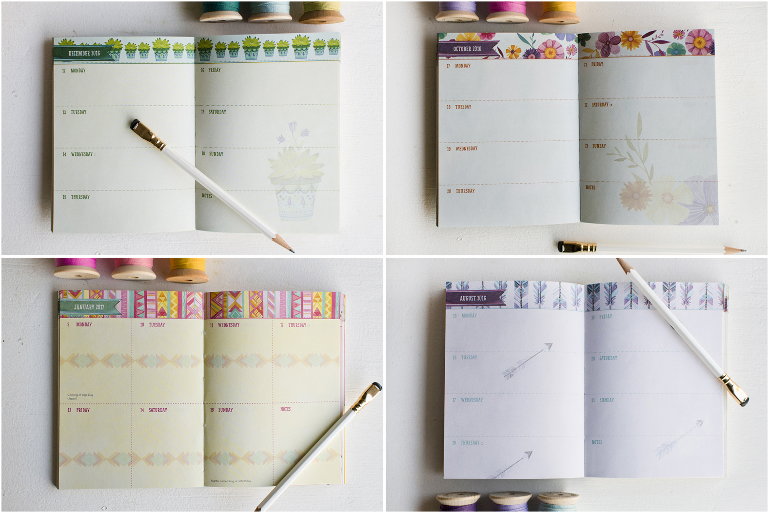 """Becca Cahan for Studio Oh // 2016-2017 """"Be Yourself"""" TMWY Planner"""