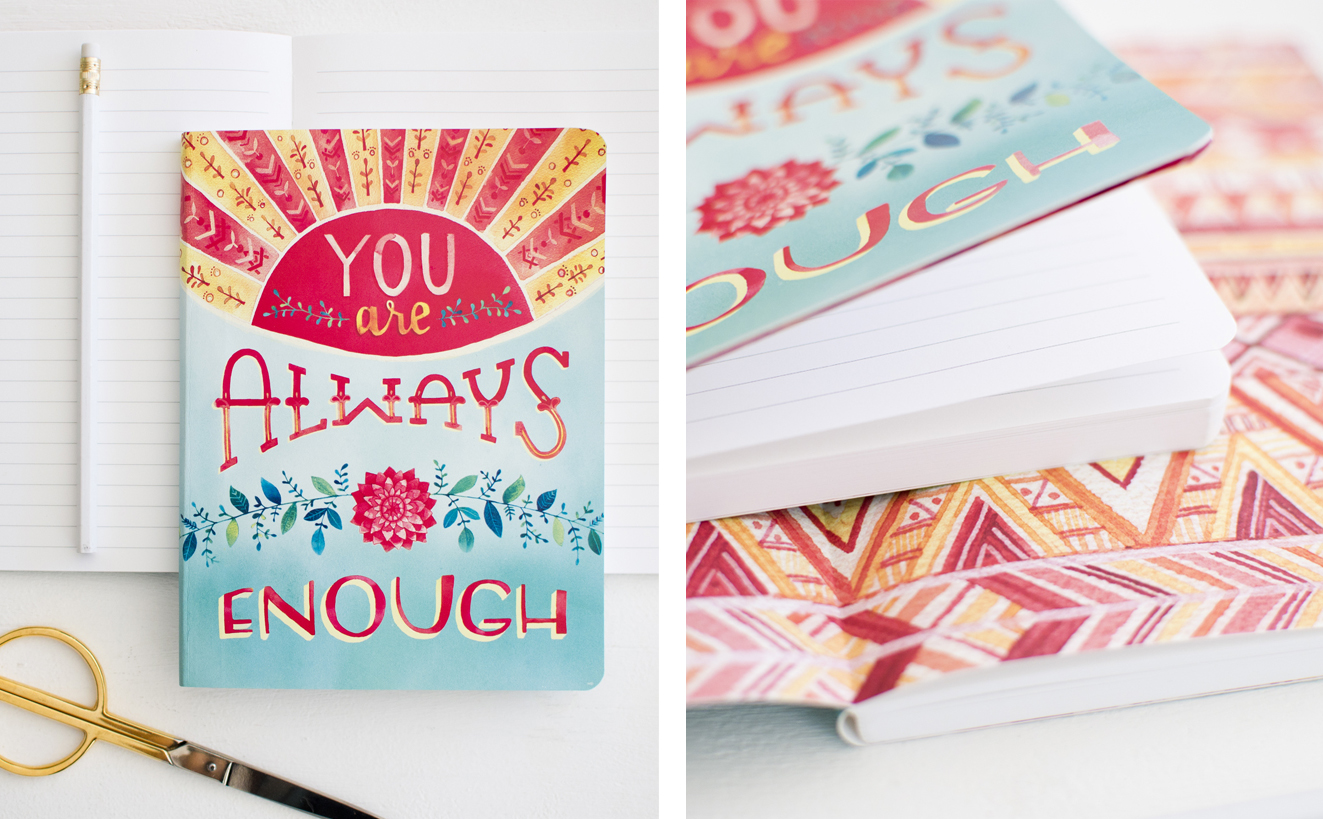You are Always Enough journal by Studio Oh for TJMaxx-art and photo by Becca Cahan