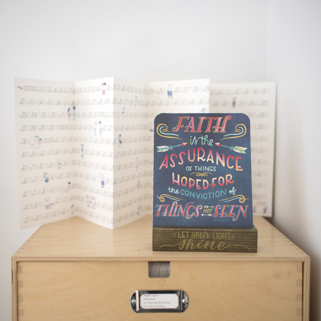 Becca Cahan for Studio Oh! // Bible Stand Art
