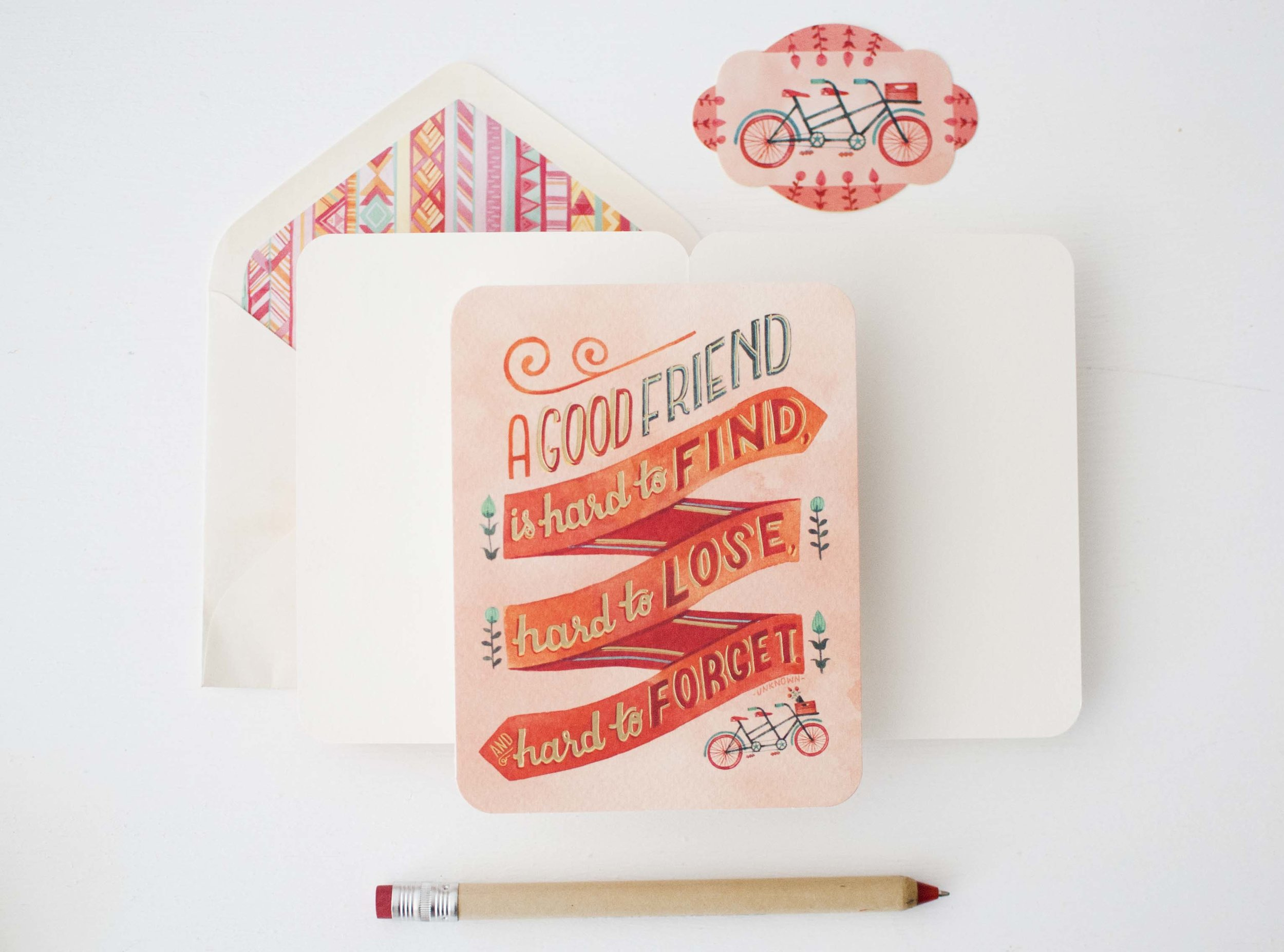 Studio Oh! Deluxe Greeting Card // Art by Becca Cahan
