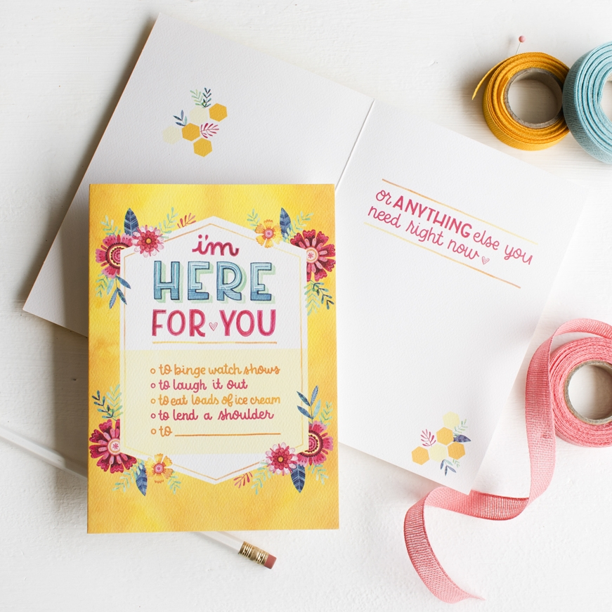 Becca Cahan Watercolor Illustration for Design House Greetings / Trader Joes Exclusive