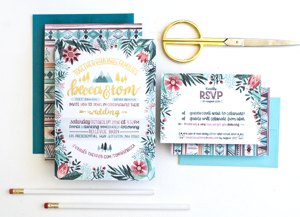 Becca Cahan Personal Wedding Invitation