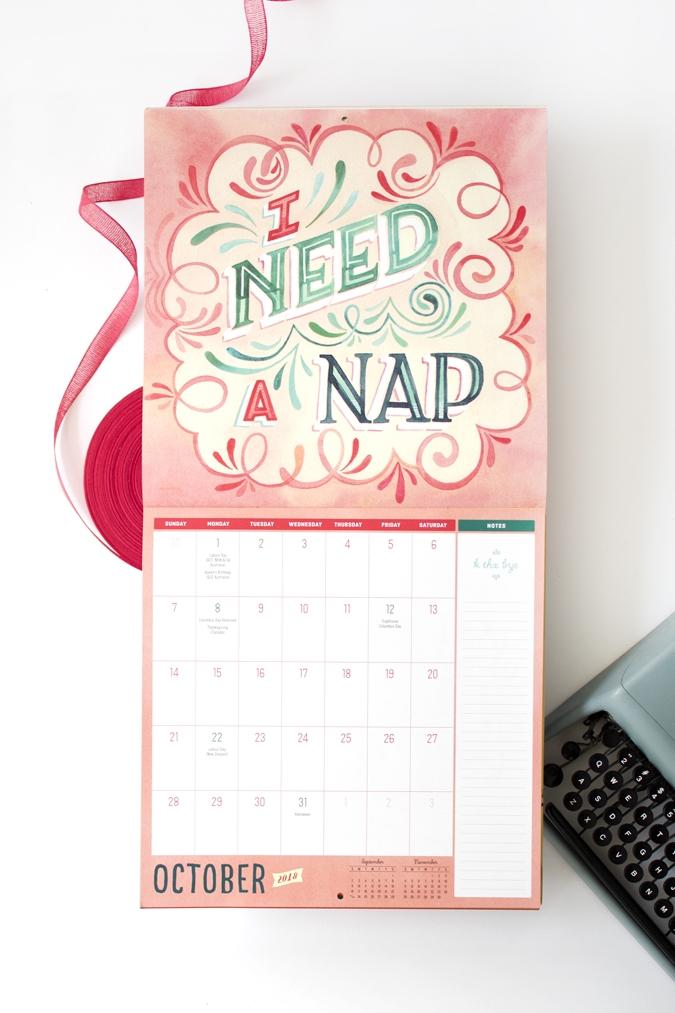 "Becca Cahan Illustration for Workman Pub ""Not Your Day"" Calendar 2018"